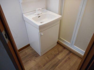洗面スペースも広いですよ