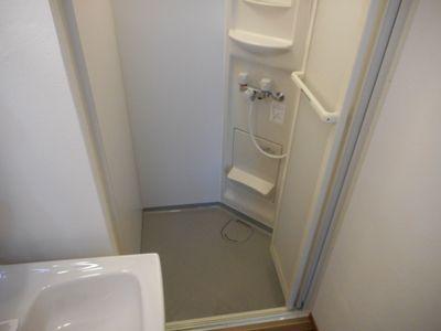 シャワールーム、浴槽は無しです。