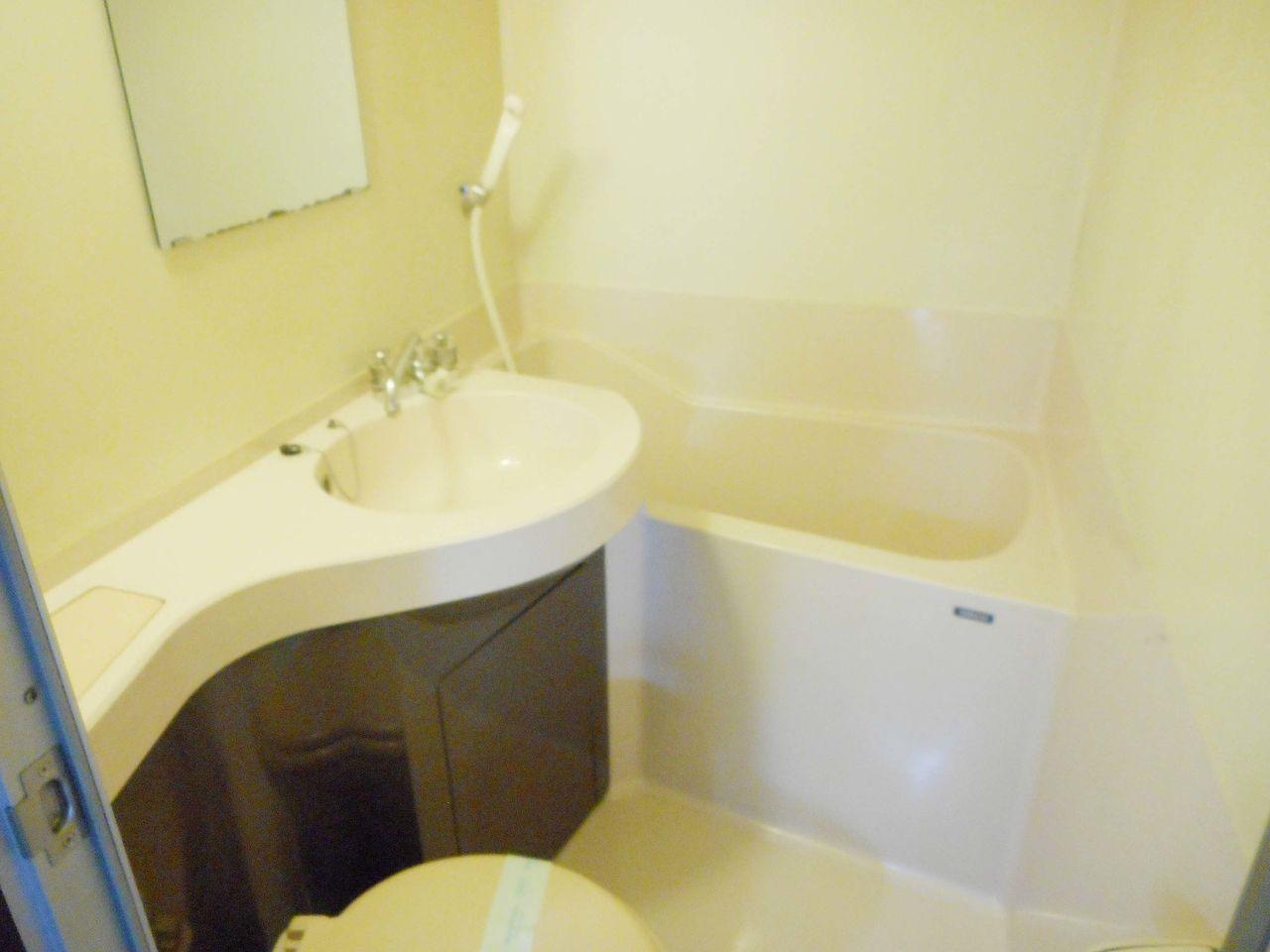 浴槽とトイレ・洗面は一緒になってます