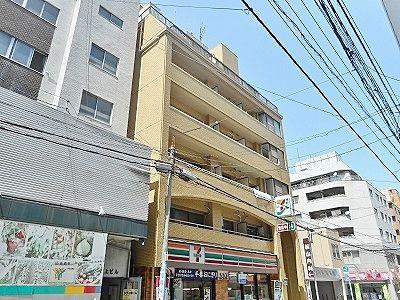 広島県庁、広島バスセンターも近い広島市紙屋町交差点に徒歩圏内の賃貸マンションの外観写真。(情報提供不動産会社) 株式会社スポット