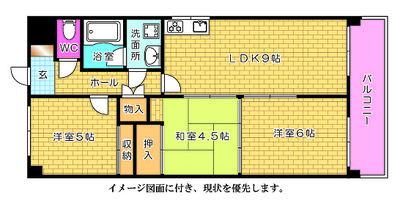 広島市中区中町のポレスター広島の間取り図面